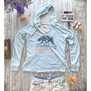 Billabong California Love light blue hoodie